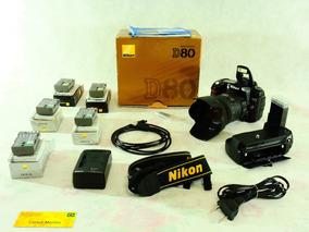 Nikon D80 Com 2478 Disparos + Grip Mb-d80 + 18-200mm Vr