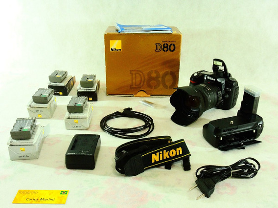 Nikon D80 Com 2478 Disparos + Grip Mb-d80 + 18-200mm Vr