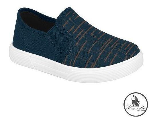 Tênis Infantil Masculino Molekinho Slip 2136.102-azul Escuro