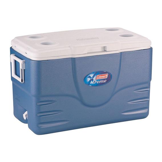 Caixa Térmica Cooler Coleman 49l Xtreme 52qt Thermozone Azul