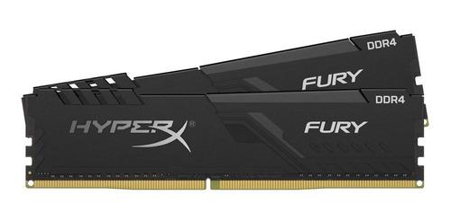 Imagem 1 de 5 de Kit Memória Ram Hyperx Fury 16 Gb 2x8gb Hx432c16fb3/8