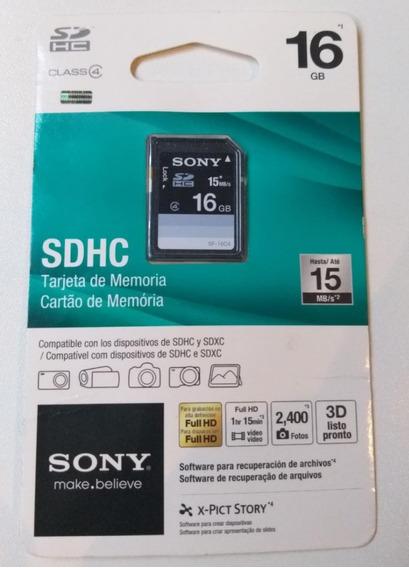 Cartão Memória Sony Sd Sdhc 16gb Full Hd 10 Class4 Blister