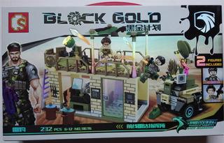 Lego Soldados Alter Base Cuartel Militar Gold Commandos