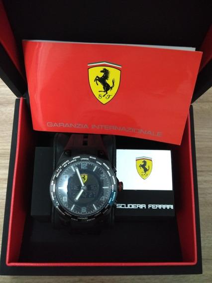 Relógio Ferrari Word Time Carbon Original Aceito Troca