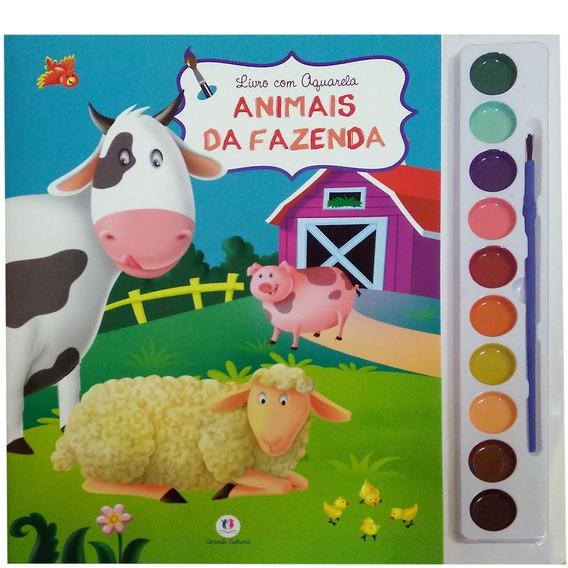 Livro Com Aquarela Animais Da Fazenda - Ciranda