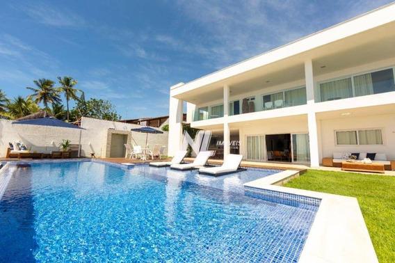 Casa Beira-mar Com 6 Quartos À Venda, 715 M² - Praia De Porto Mirim - Ceará-mirim/rn - Ca0393
