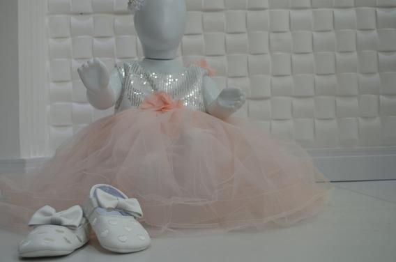 Vestidos Princesa Festa Aniversario Bebe Sapato