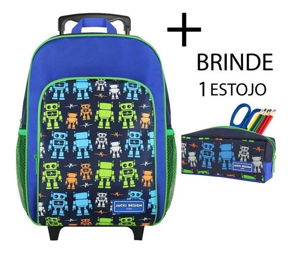 Mochila Escolar Infantil C/ Rodinha G Menino Jacki Design
