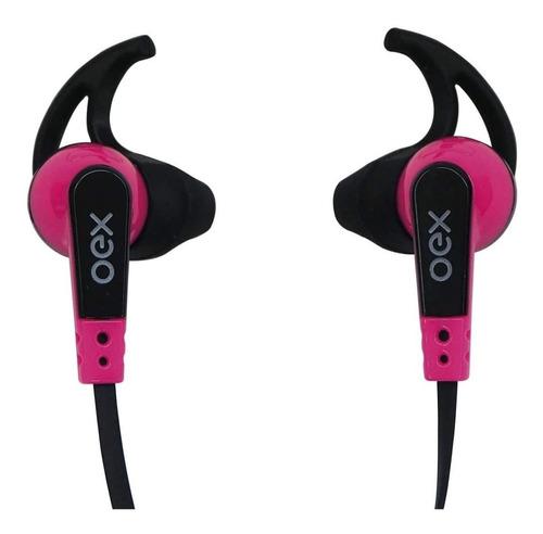 Fone De Ouvido Intra Auricular Esportivo Oex Fn206 Rosa