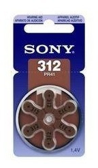 6 Bateria Auditiva Original 312 Pr41 Cartela Com 6.pc Sony