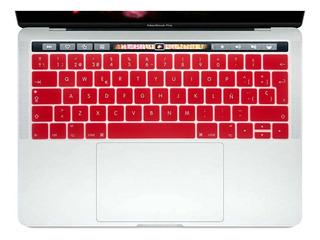 Protector De Teclado Macbook Pro Touch Bar Español Silicona