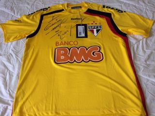 Camisa Goleiro São Paulo Rogerio Ceni 2011 Autografada Nova