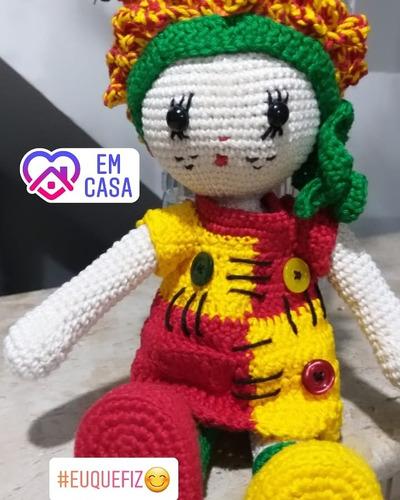 Boneca emilia em amigurumi (com imagens) | Boneca emilia, Bonecas ... | 500x400