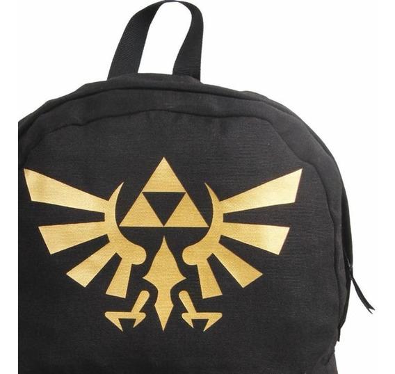 Mochila Nintendo Zelda 11174 Preta Escolar Original