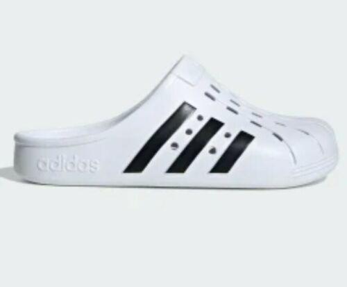 Nuevo adidas Adilette Clog Blanco Hombre Talla 9 Unisex S...