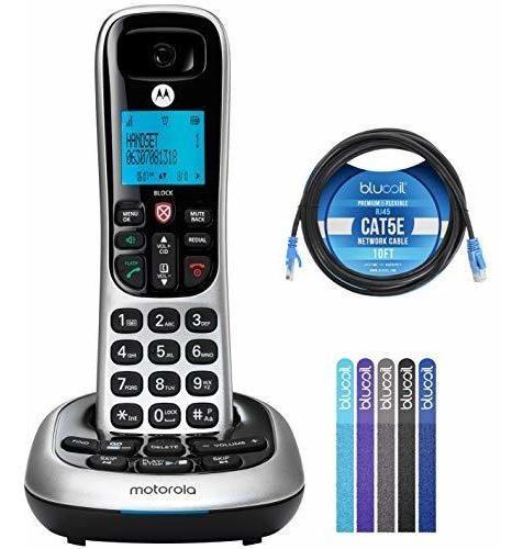 Motorola Cd4011 Dect 6.0 Teléfono Inalámbrico Con Contestad