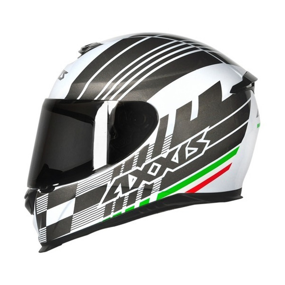 Capacete Moto Axxis Italy Matt White Branco Tamanho 60