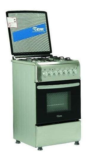 Cocina Tem Combinada Acero 1 Disco Rápido Horno Eléctrico