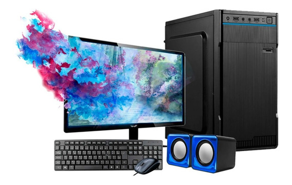 Computador Intel 8gb Ram Hd500gb C/monitor 18,5 Wifi Wind 10