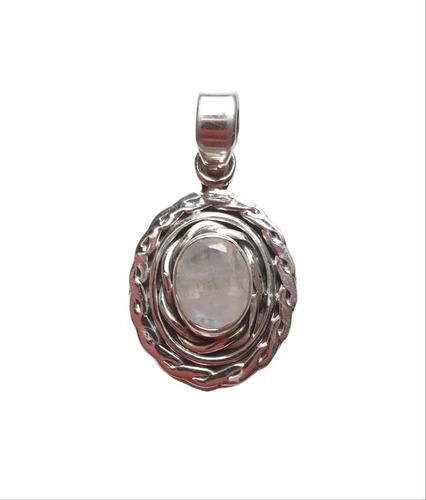Pingente Em Prata 925 Indiano Com Pedra Da Lua Natural
