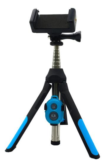Tripé Câmera Extensível Vara Monopé Selfie Telefone Bluetoot