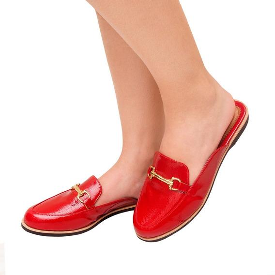 Sapato Mule Casual Verniz Feminino