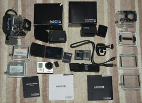 Gopro Hero 3 White+lcdtouch Bacpac+battery Bacpac+2 Baterias