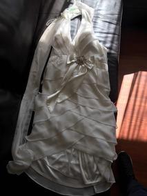 Vestido Novia Cóctel Talla 46 O L