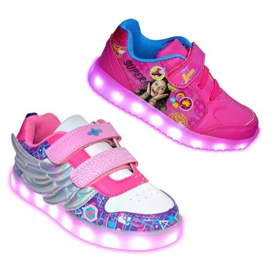 Zapatillas Soy Luna Luces Led Alas Mundo Moda Sl10230