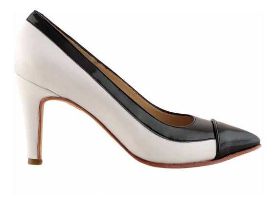 Zapato Vestir Mujer Cuero Briganti Combinado - Mccz33022 Vh