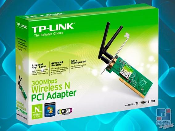 Placa De Red Wifi Pci Tp-link Tl-wn851nd 2 Anten