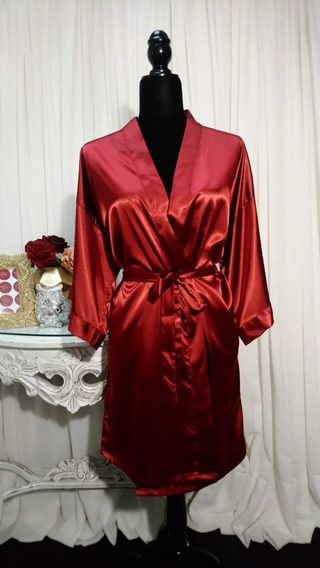 Bata De Satin Con Cinturon Para Mujer Kimono Pijama Envio