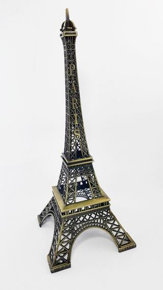 Torre Eiffel 25cm Metal Paris Miniatura Decoração Mesa Sala Enfeite