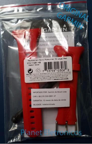 Pulseira Original Garmin Forerunner 10 E 15 Vermelho -grande