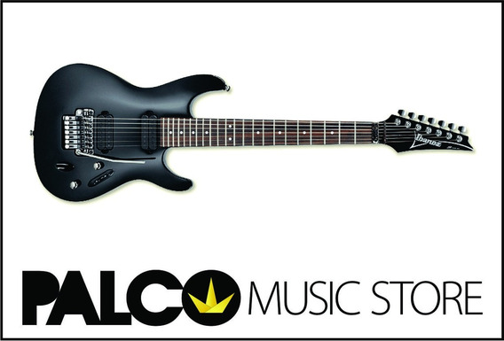 Guitarra Ibanez S7320 Bk 7 Cordas - Loja Palco