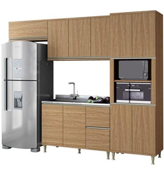 Cozinha Completa Belaflex 10 Portas 2 Gavetas 4 Peças Mdp
