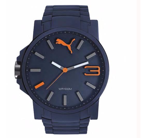 Reloj Puma De Caballero Modelo Pu104301004 Color Azul