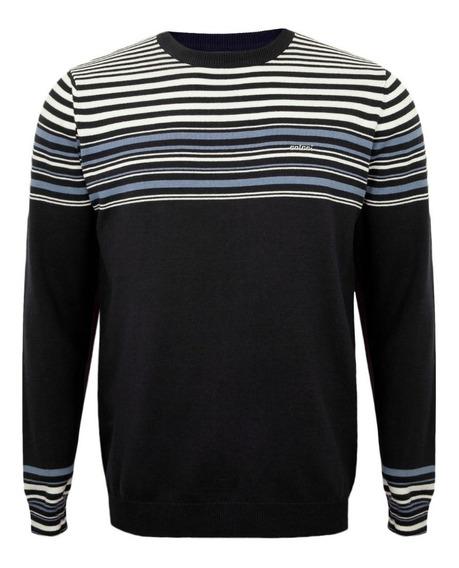 Suéter Azul Marinho Listras Masculino Colcci 00042