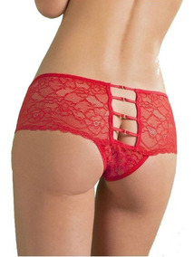 Sexy Y Fino Cachetero Abierto Rojo Lenceria Roja Para Mujer