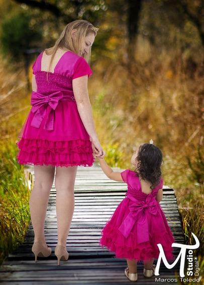 Vestido Tal Mae.tal.filha Camisa Tam G Adulto E Tam 6