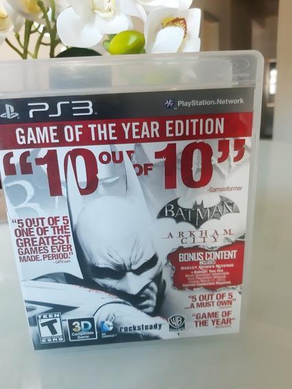 Batman Arkham City Ps3 Midia Fisica