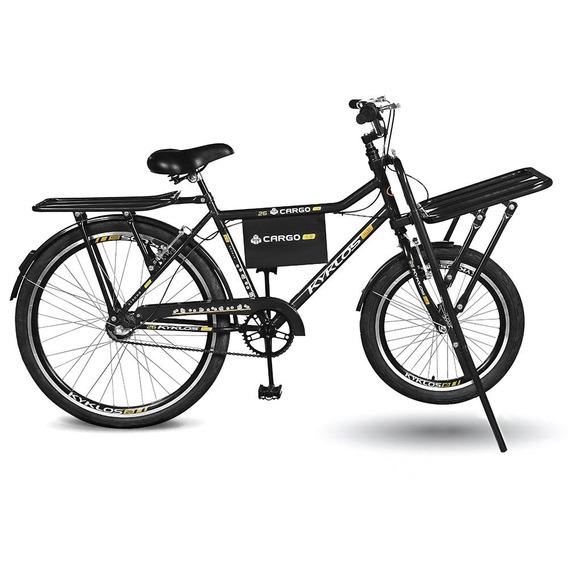 Bicicleta Aro 26 Cargo 4.9 A-36 3v Freio V-brake Pt Kyklos