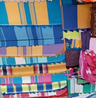 Colcha Matrimonial Elaborada En Telar De Mitla, Oaxaca 3 Piezas