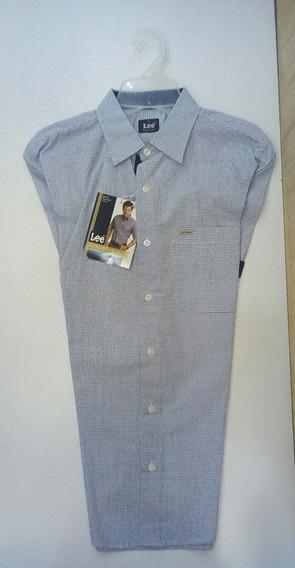 Camisa Casual Manga Corta Tallach Marca Lee Primera- Verano