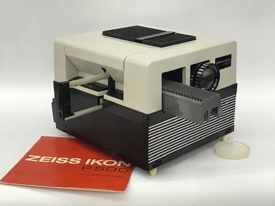 Projetor De Slide Zeiss Ikon P 500 C/acess.e Maleta(coleção)