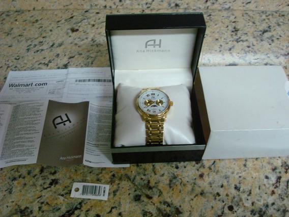 Relógio Feminino Analógico Ana Hickmann 30022h Dourado Usado