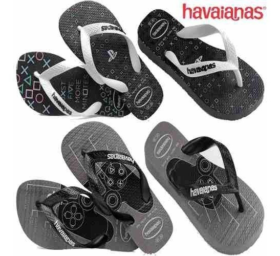 Chinelo Havaianas Playstation Desenho Controle Video Game