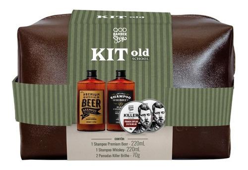 Imagem 1 de 1 de Kit Old School Hair | Necessaire + Produtos Para O Cabelo