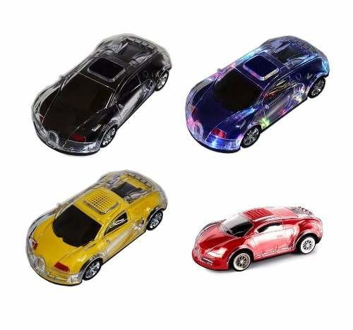 2017 Modelo Carro Som Led Speaker Mp3 Player Fm Aux Bugatti