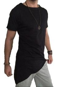 Camiseta Masculina Oversized Swag Longline Pont 100% Algodão